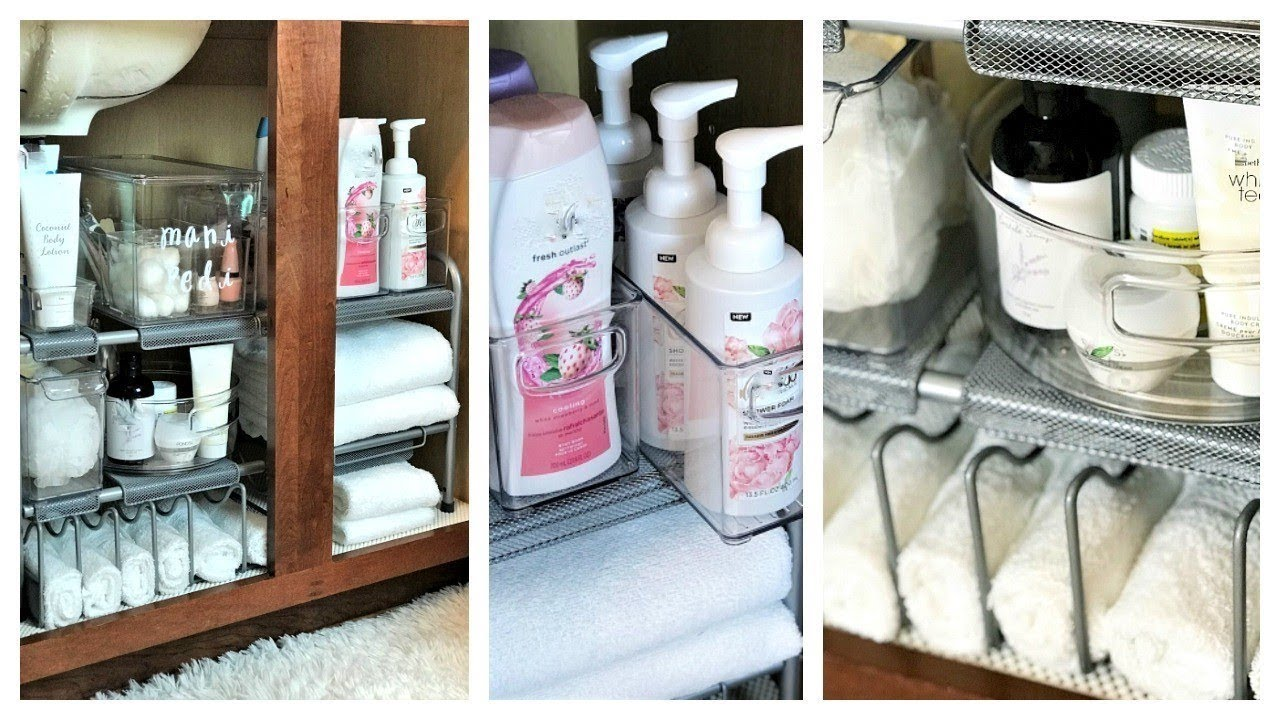 New How To Organize Under Your Bathroom Sink Tips Solutions Youtube