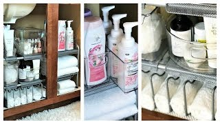 NEW! How To Organize Under Your Bathroom Sink | Tips & Solutions