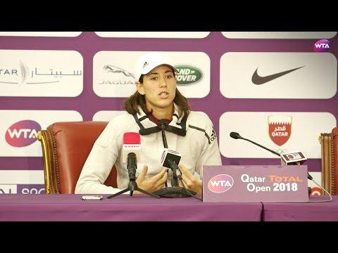 2018 Qatar Open press conference: Garbiñe Muguruza 'my best match of the season'