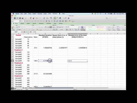 How to Calculate Standard Deviation and Standard Error, and Add Error Bars in Graphs Using Excel