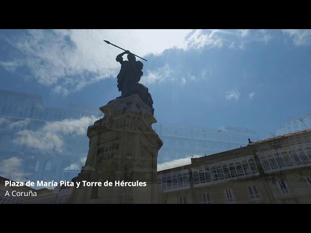 Plaza de María Pita y Torre de Hércules A Coruña