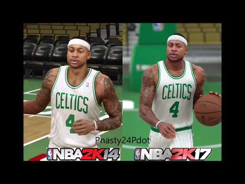NBA 2K17 vs NBA 2K14 Official Face - Graphics Comparison/Xbox One HD Gameplay