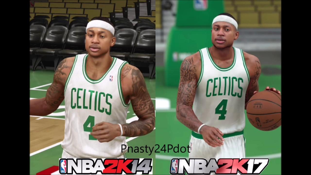 NBA 2K17 vs NBA 2K14 Official Face - Graphics Comparison ...
