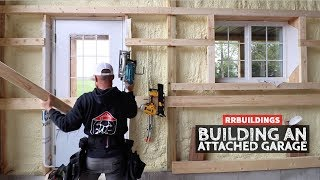 How to Build a Garage Addition 24: Interior Garage Framing Windows and Doors