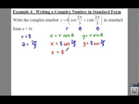 Pc 65 Notes Example 4 Writing A Complex Number In Standard Form