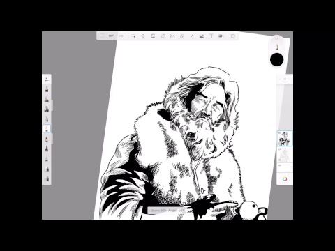 Morning Warm Up with J. Andrew World Drawing Kurt Russell as Santa Claus.