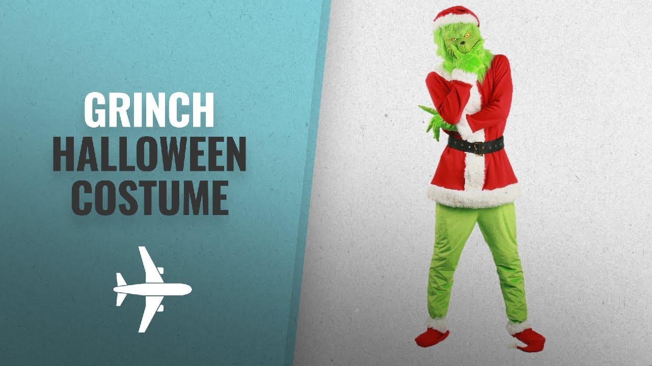 Green elope Grinch Beard Santa Hat One Size