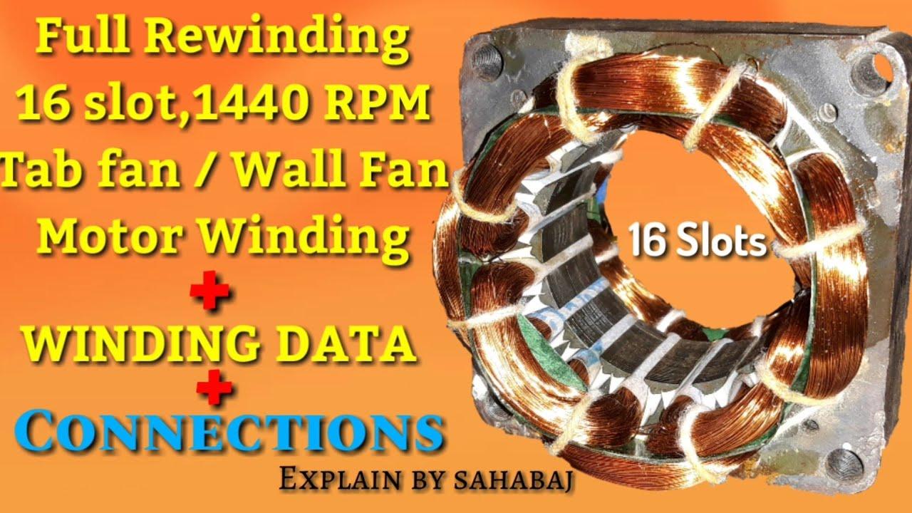 Full Rewinding 16 Slot  1440 Rpm  Table Fan Or Wall Fan