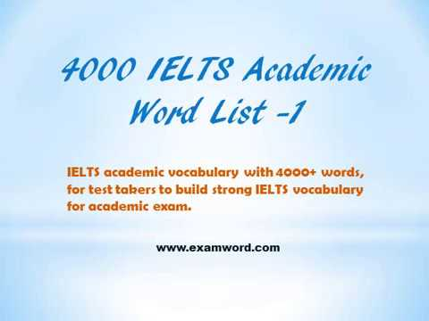 ielts 4000 academic word list pdf