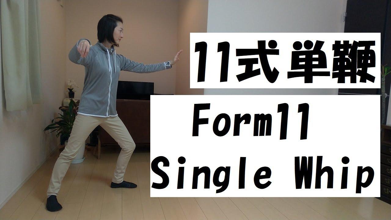 24式太極拳(楊式)入門・初級編 【11式単鞭】Yang 24Form Tai Chi 【Form11 Single Whip】 - YouTube