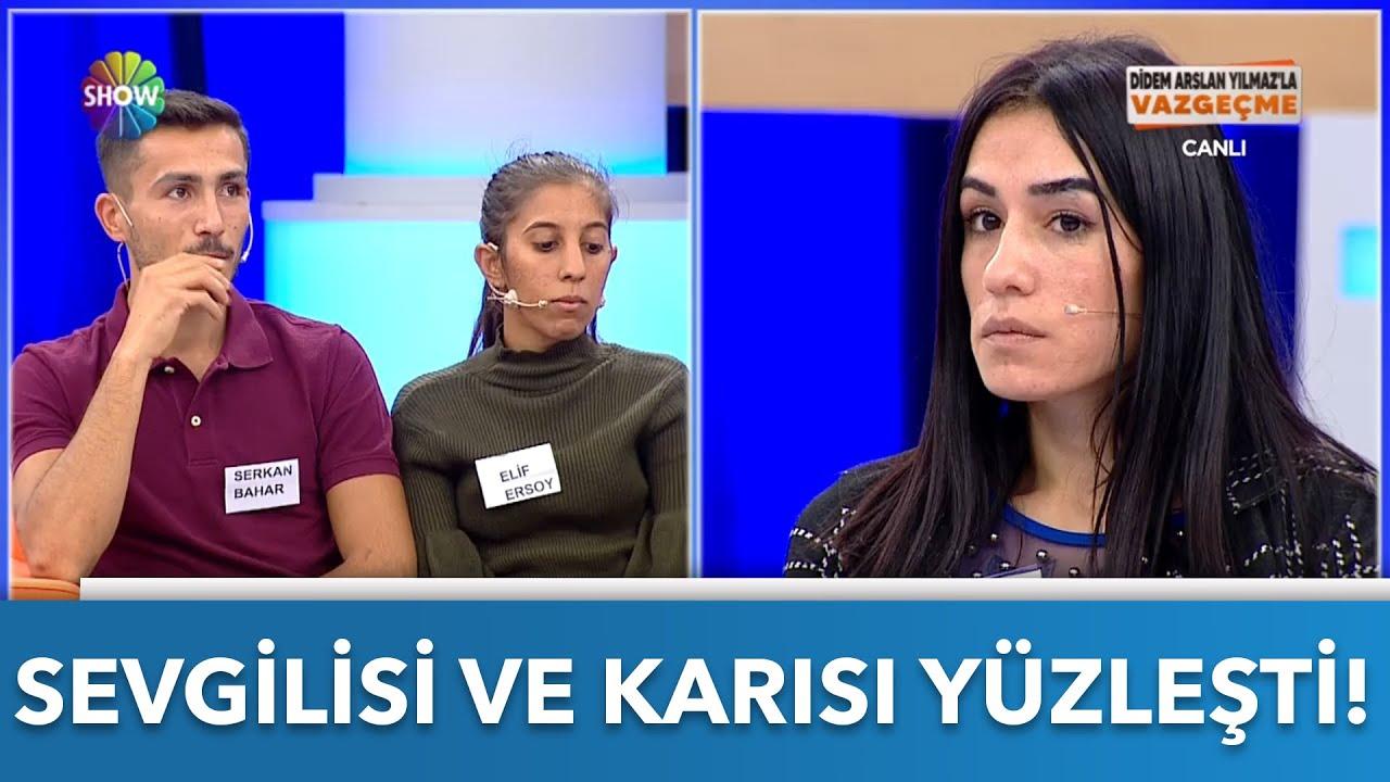 Serkan'ın sevgilisi ve eşi canlı yayında yüzleşti!   Didem Arslan Yılmaz'la Vazgeçme   15.10.2021