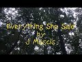 J Mascis - Everything She Said [LYRIC VIDEO]