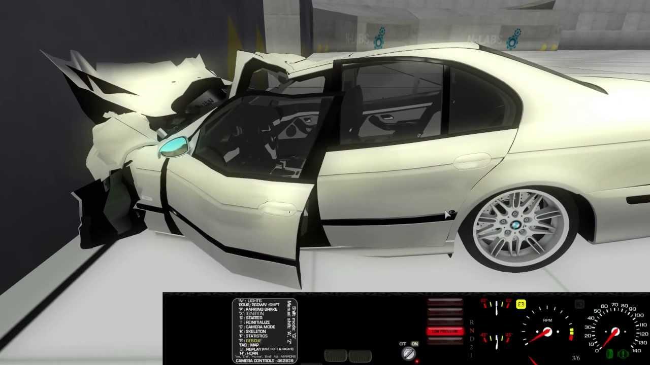 Ror 2013 Bmw E39 Crash Test Youtube