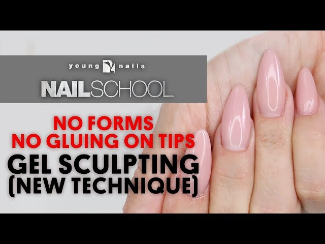 YN NAIL SCHOOL - NO FORMS, NO GLUING ON TIPS, GEL SCULPTING (NEW TECHNIQUE)