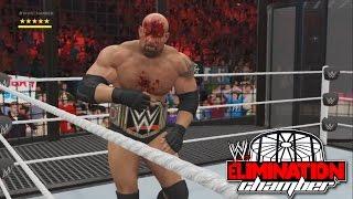WWE 2K17- WWE World Heavy Weight Championship Elimination Chamber Match 2016 (PS4)