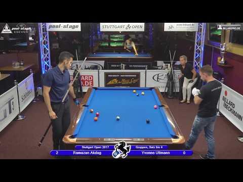 Stuttgart Open 2017, No. 13, Ramazan Akdag vs. Yvonne Ullmann, 10-Ball, Pool-Billard