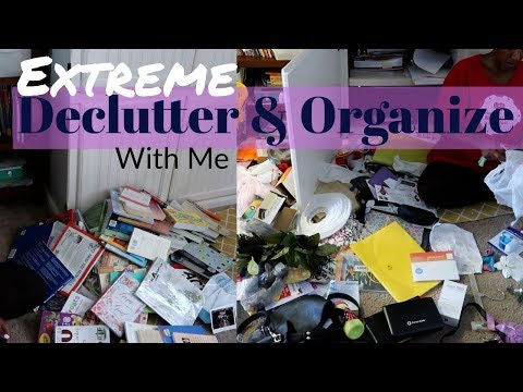 Extreme Declutter with me / Decluttering and Organizing My Crazy House / Cleaning Motivation