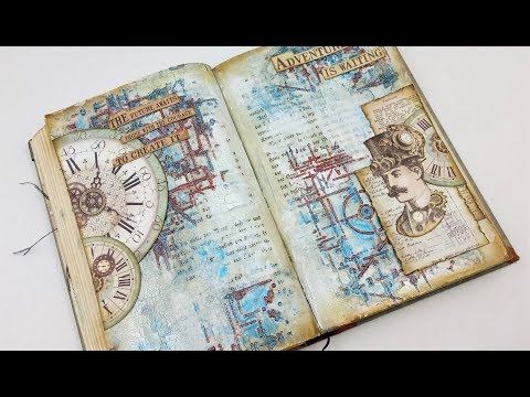Steampunk art journal page DT Project for Cre-Artive Corner