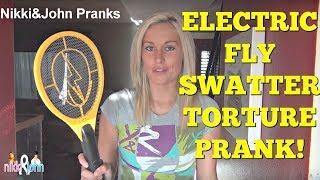 ELECTRIC FLY SWATTER PRANK - Top Girlfriend and Boyfriend Pranks