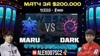 Матч за $200.000: Финал WESG по StarCraft II - Maru (Terran) vs Dark (Zerg)
