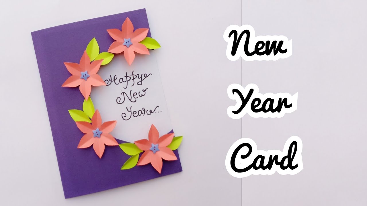 New Year Card/How to make New Year Card 2019/Handmade Card ...