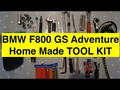 BMW F800 GS Adventure Motorcycle Home Made Tool Kit