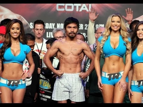 MANNY PACQUIAO VS BRANDON RIOS - WEIGH-IN - ENTIRE CARD