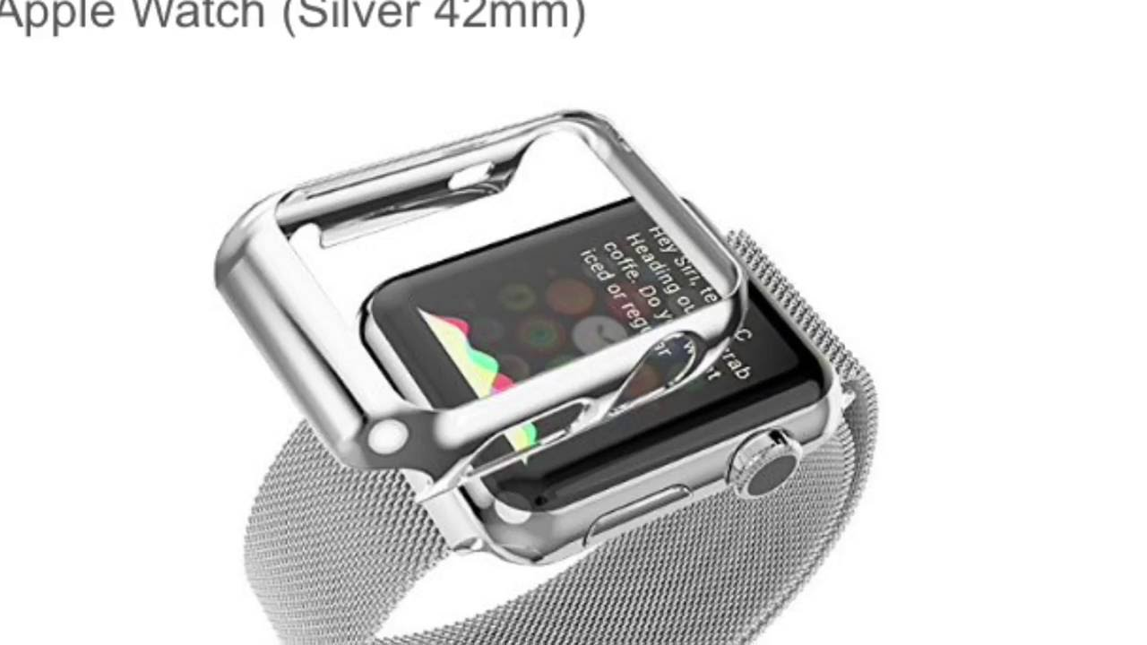 newest 49fe9 ee14e Apple watch replacement band with plated case mesh milanese magnetic closure