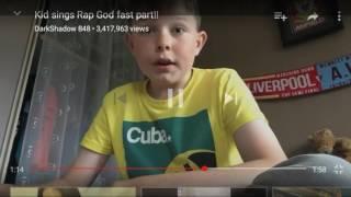 kid sings rap god fast part