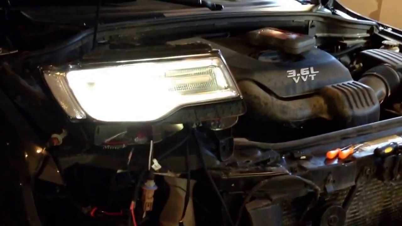 maxresdefault 2014 jeep grand cherokee hid led headlight harness test youtube 2014 jeep cherokee wiring harness at bayanpartner.co