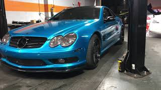 How to install BC racing coilovers Mercedes r230 SL55 sl500