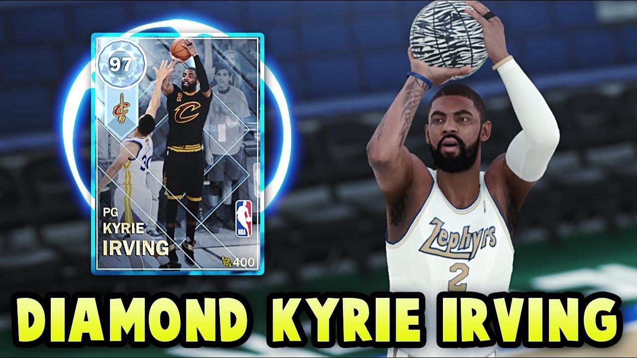 52016a444d9 NBA 2K18 MyTEAM DIAMOND 97 OVERALL FINALS KYRIE IRVING GAMEPLAY  99 BALL  CONTROL