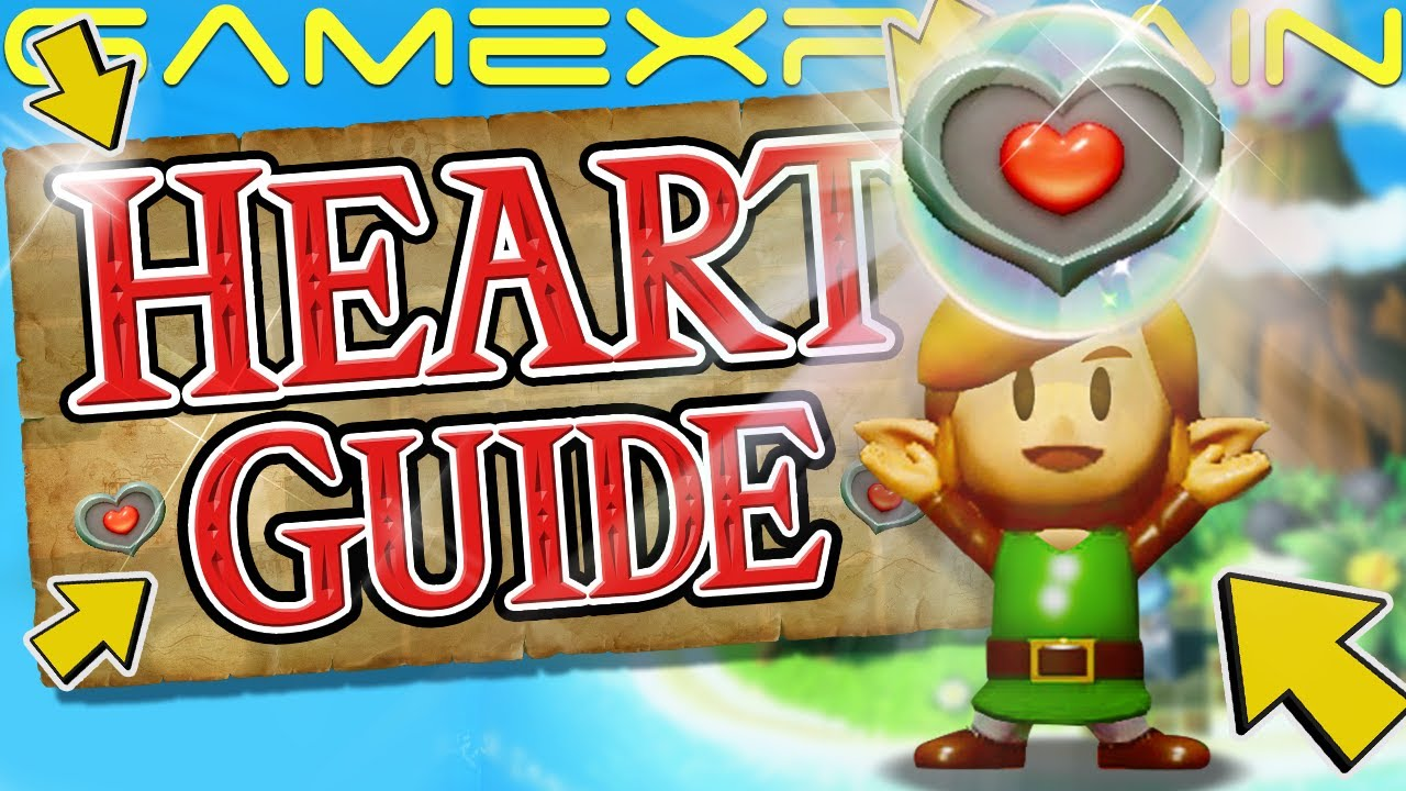 Zelda Link S Awakening All 32 Heart Piece Locations Switch Guide Walkthrough
