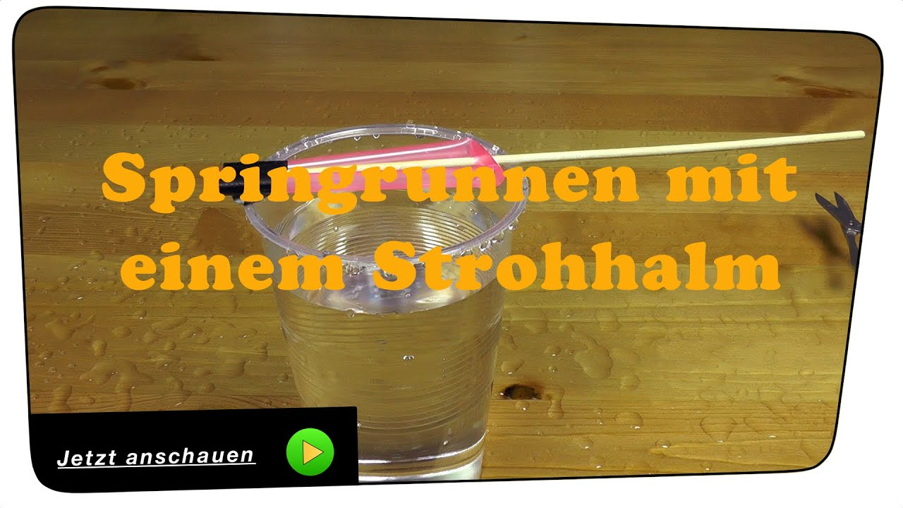 wasserpumpe springbrunnen mit einem strohhalm selber bauen experiment tutorial youtube. Black Bedroom Furniture Sets. Home Design Ideas