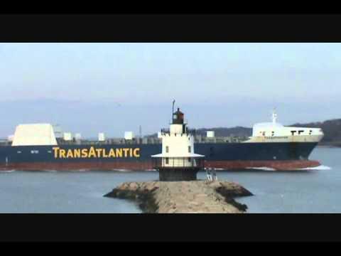 Transfighter leaving Portland Harbor