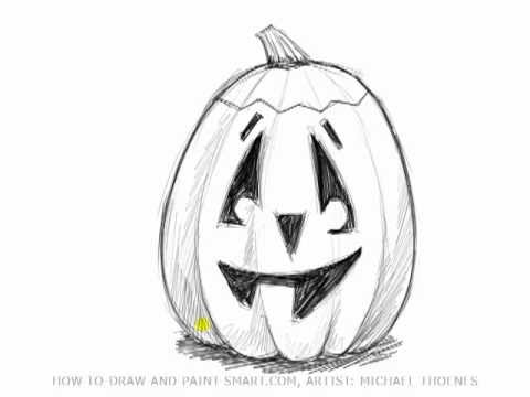 How to draw a pumpkin mat youtube Awesome pumpkin drawings