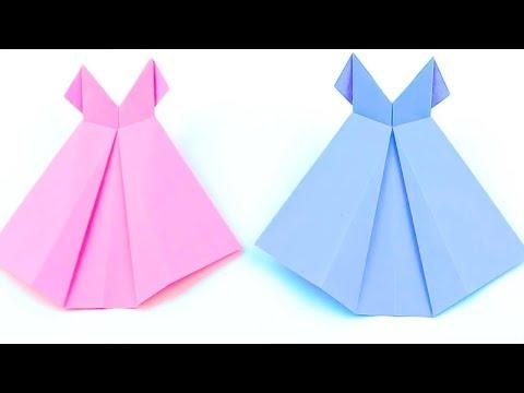 How To Make Paper Wedding Dress   Origami Wedding Dress   Easy Origami Tutorial
