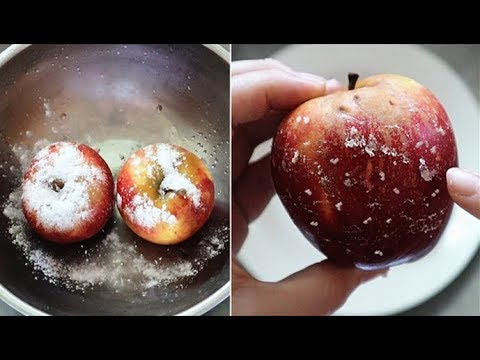 How To Clean And Remove All Wax & Pesticides From Apples FAST!