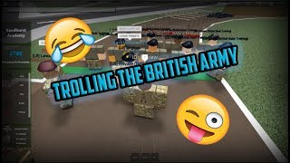 TROLLING THE BRITISH ARMY! (ROBLOX)