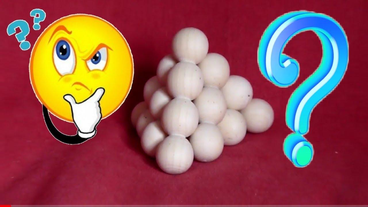 TUTO SOLUTION pour résoudre le CASSE-TETE pyramide de boules Rompicapo
