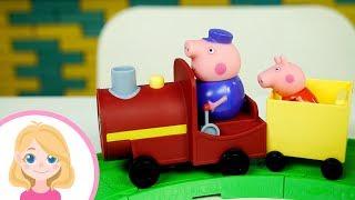 ПАРОВОЗИК и Свинка Пеппа - Распаковка игрушек для детей - Маленькая Вера