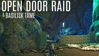 BASILISK TAME and The Open Cliff Plat Raid (E26) - Official 6 Man Tribes - ARK Survival
