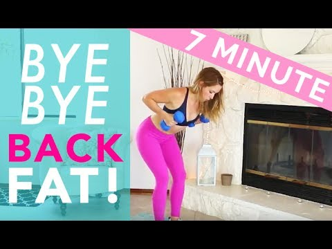 7 min bra bulge workout for women  back fat workout at