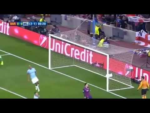 Barcelona vs Manchester City 1-0 18 March 2015 - All Goals Highligh nutmeg messi The Player of city