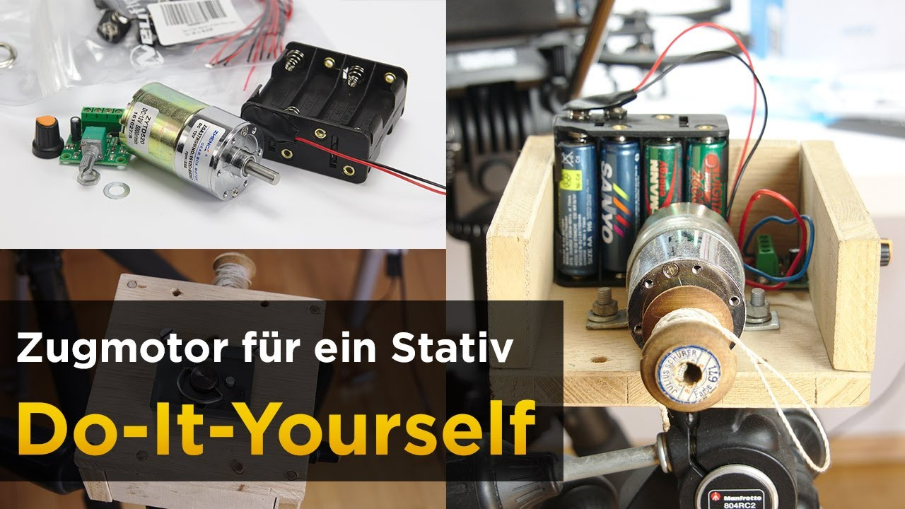 Do It Yourself Motor F R Weiche Videoschwenks Im