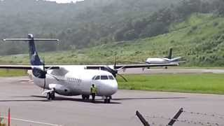 LIAT ATR 72-600 landing and Seaborne takeoff at Melville Hall Dominica | Sean Entertainment