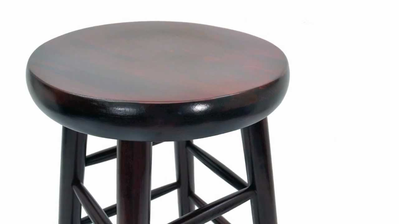 Round Wooden Bar Stool Youtube