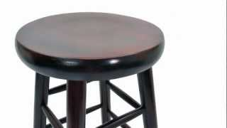 Round Wooden Bar Stool