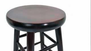 Round Wooden Bar Stool