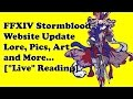 FFXIV Stormblood Website Updated with Lore, Art, Images, and more... [Live Readthrough]